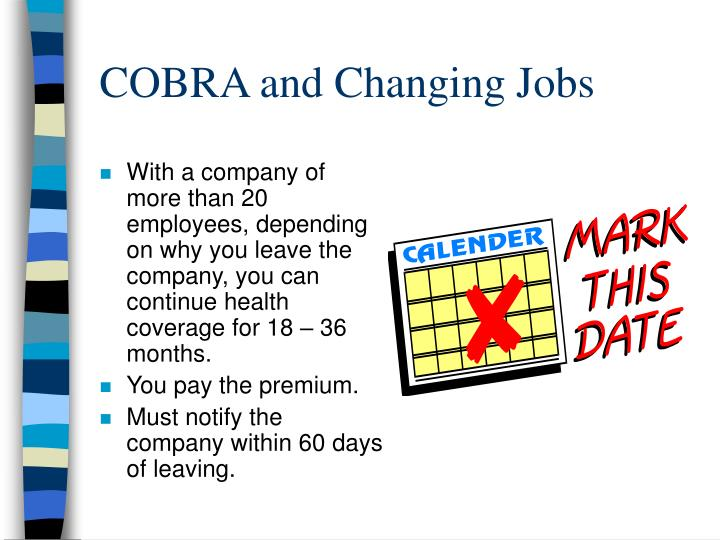 COBRA and Changing Jobs