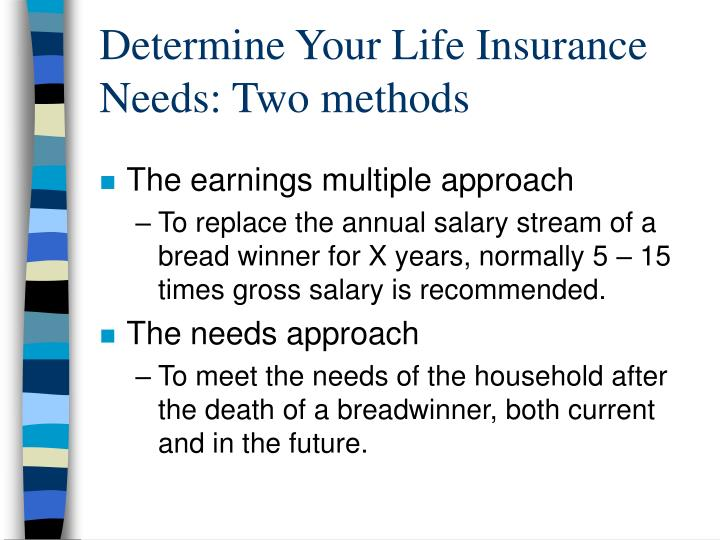Determine Your Life Insurance Needs: Two methods