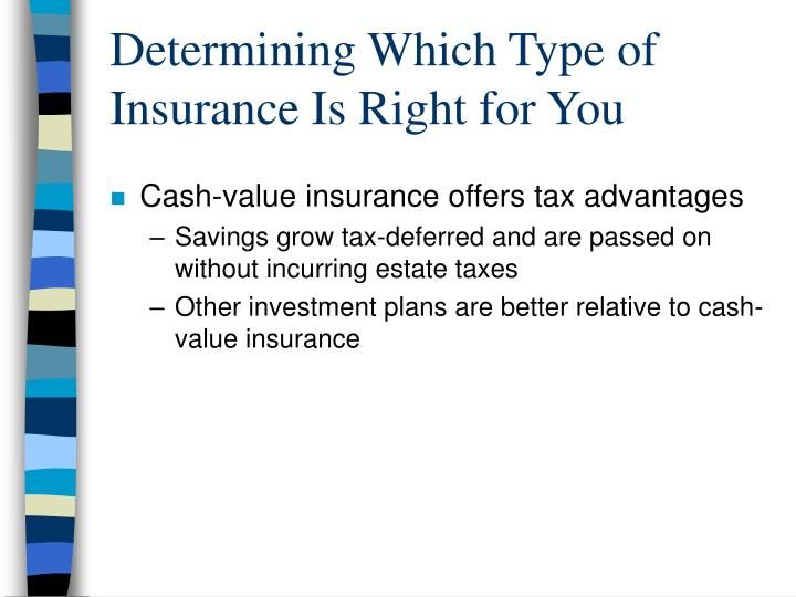 Determining Which Type of Insurance Is Right for You