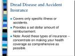 dread disease and accident insurance