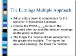 the earnings multiple approach