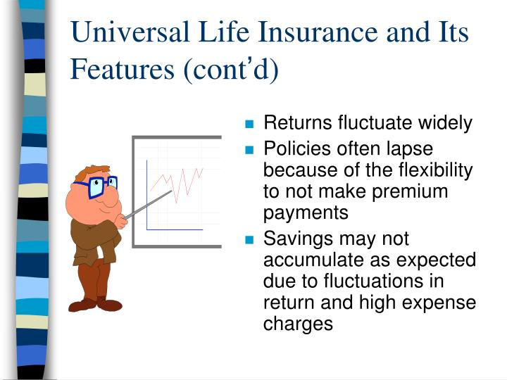 Universal Life Insurance and Its Features (cont