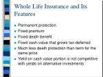 whole life insurance and its features