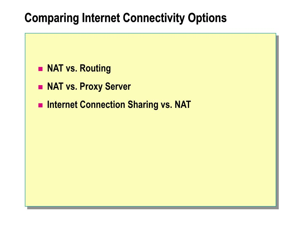 Comparing Internet Connectivity Options