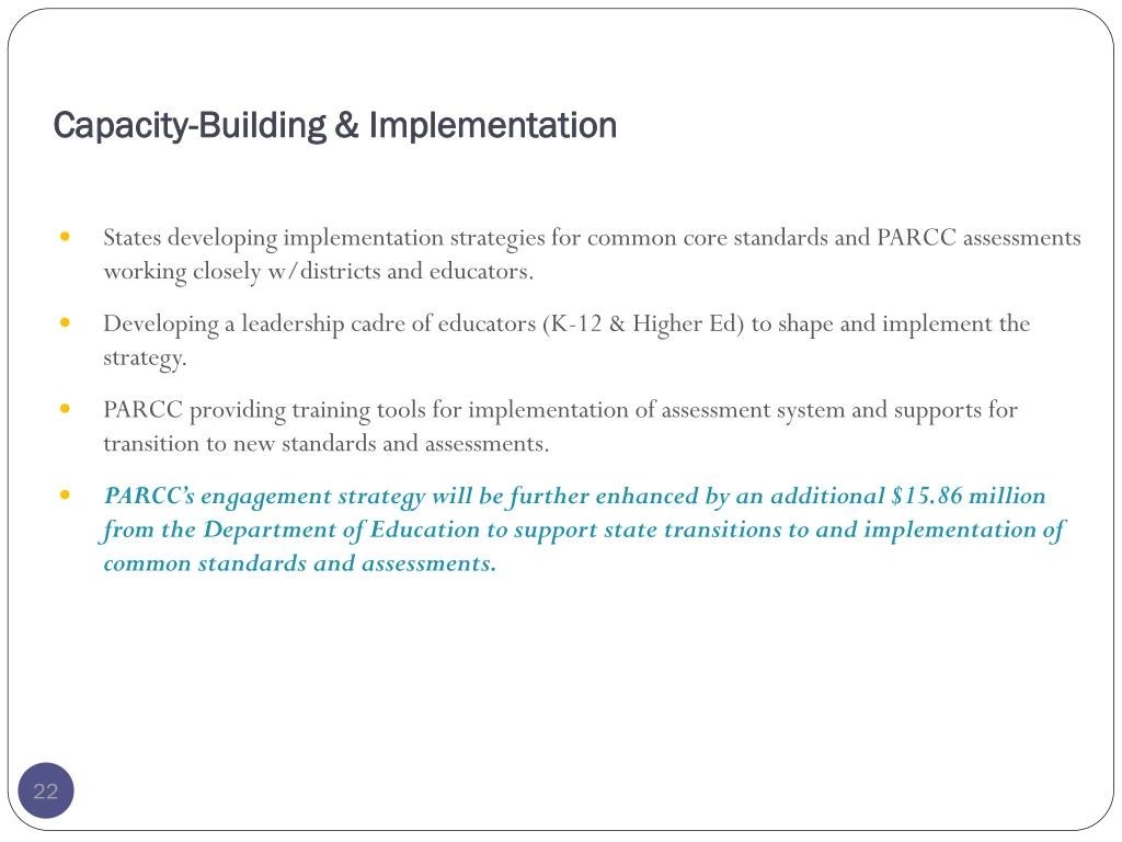 Capacity-Building & Implementation
