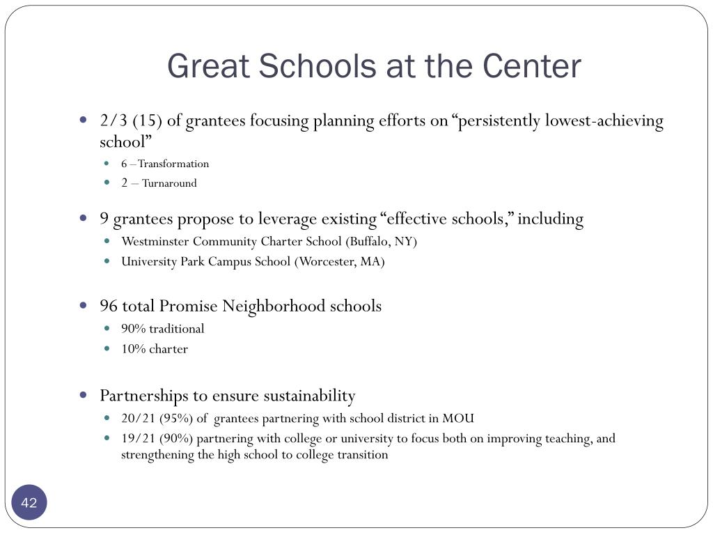 Great Schools at the Center