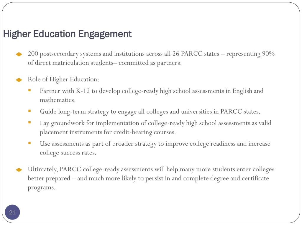 Higher Education Engagement