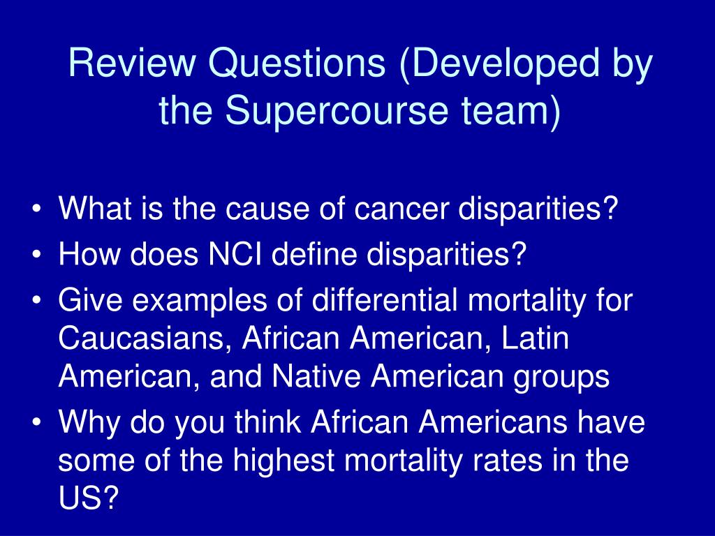 Review Questions (Developed by the Supercourse team)