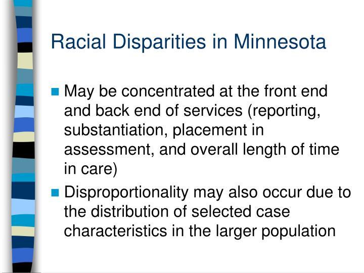 Racial Disparities in Minnesota