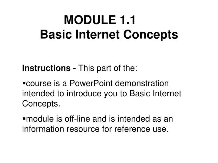 Module 1 1 basic internet concepts