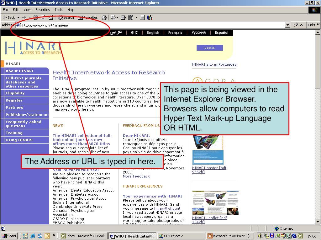 The Internet Address or URL