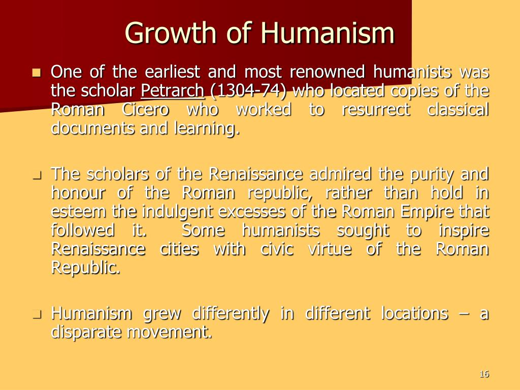 Growth of Humanism