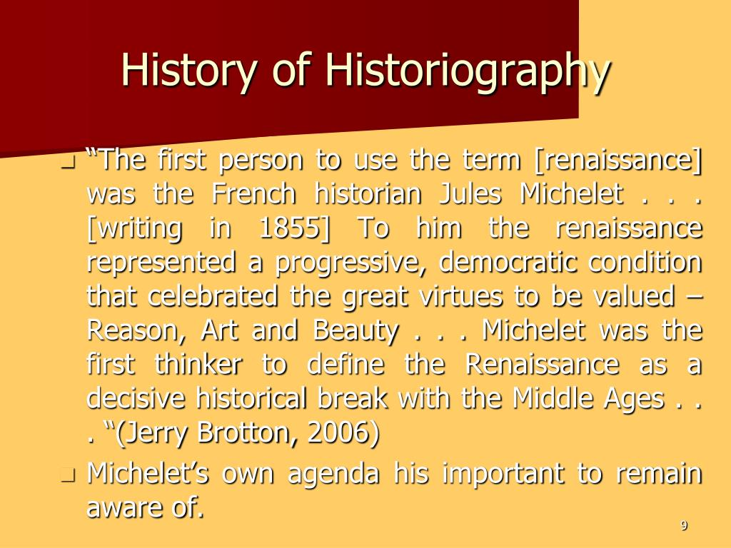 History of Historiography