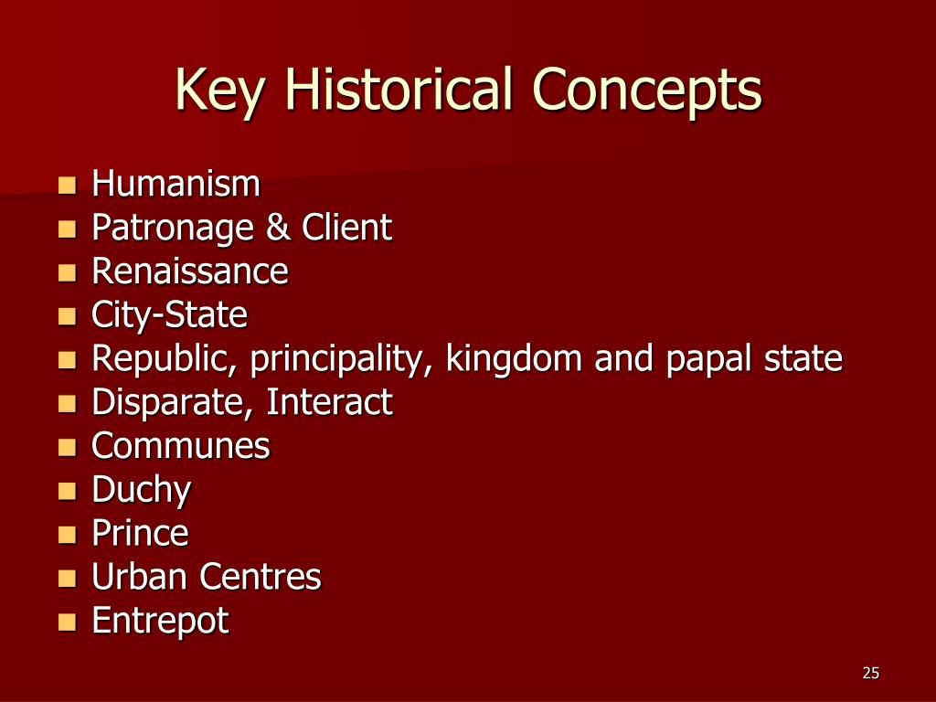Key Historical Concepts