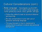 cultural considerations cont34