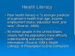 health literacy15