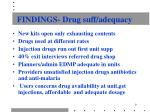 findings drug suff adequacy