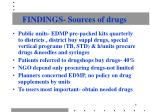 findings sources of drugs