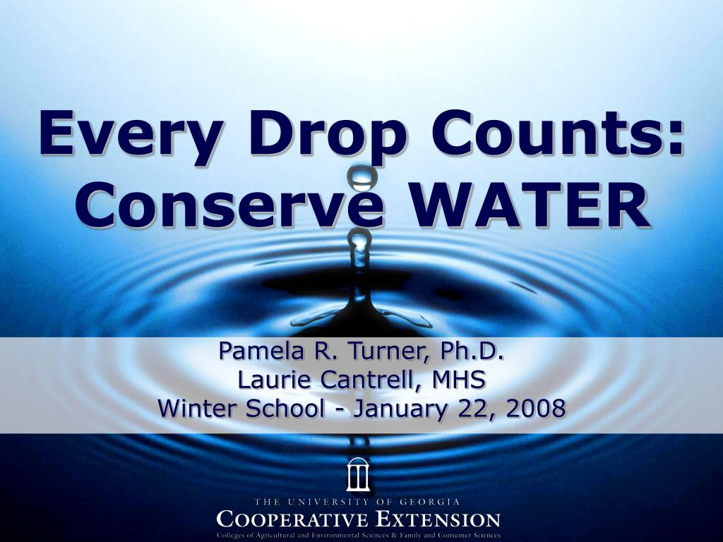 every drop counts conserve water l.