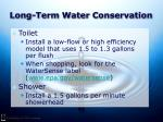 long term water conservation