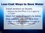 low cost ways to save water26