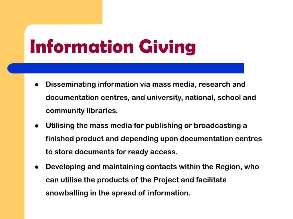 Information Giving