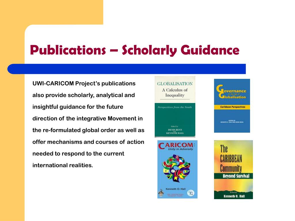 Publications – Scholarly Guidance