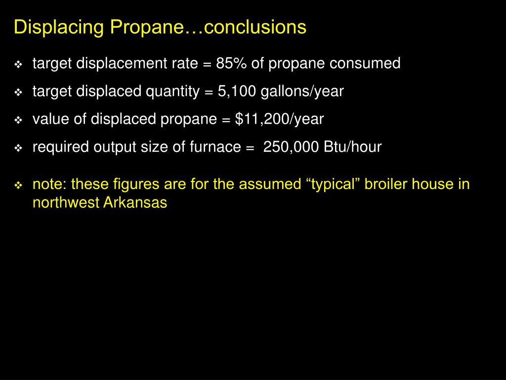 Displacing Propane…conclusions
