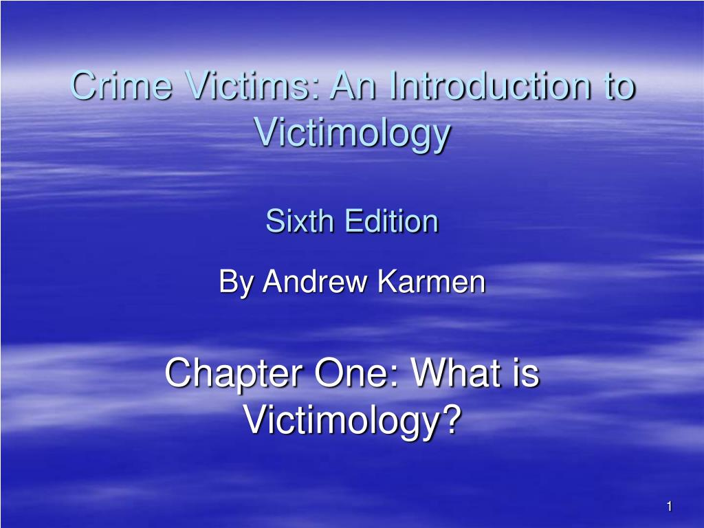 research paper on victimology Victimology research papers for criminal justice studies victimology research papers examine the study of victims, including the relationship between victims and their offenders, and the interactions of victims of crime with the criminal justice system.