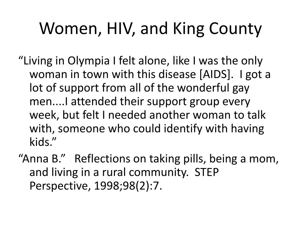 Women, HIV, and King County