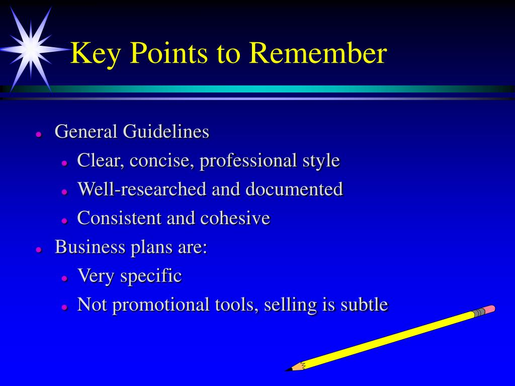 Key Points to Remember