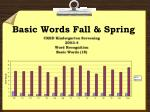 basic words fall spring