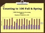 counting to 100 fall spring