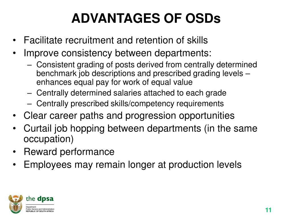 ADVANTAGES OF OSDs