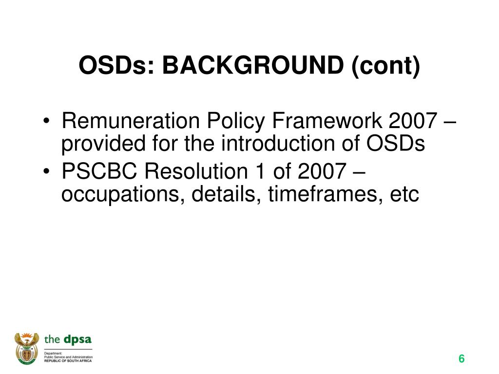 OSDs: BACKGROUND (cont)