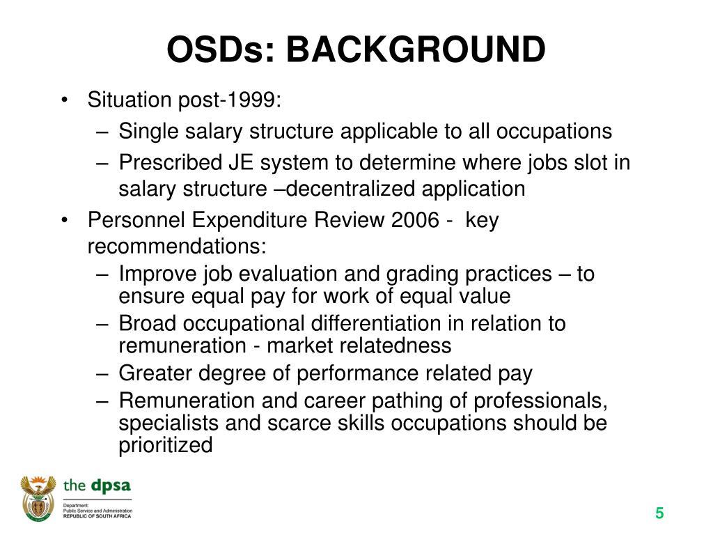 OSDs: BACKGROUND