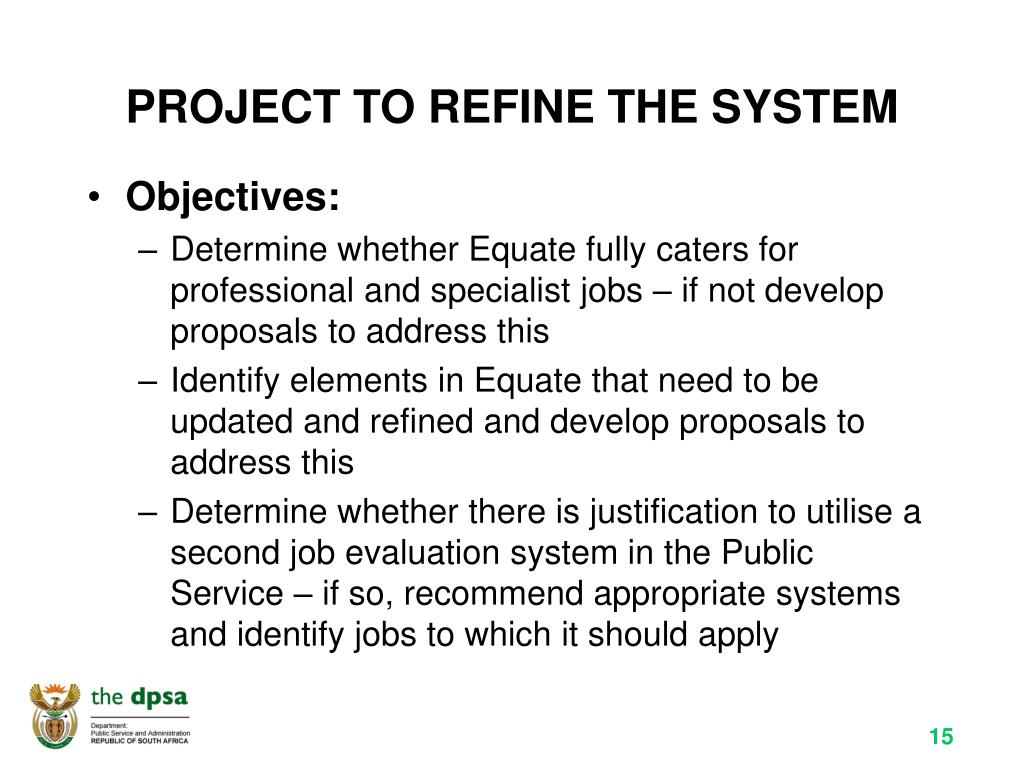 PROJECT TO REFINE THE SYSTEM