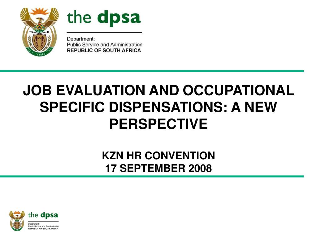 JOB EVALUATION AND
