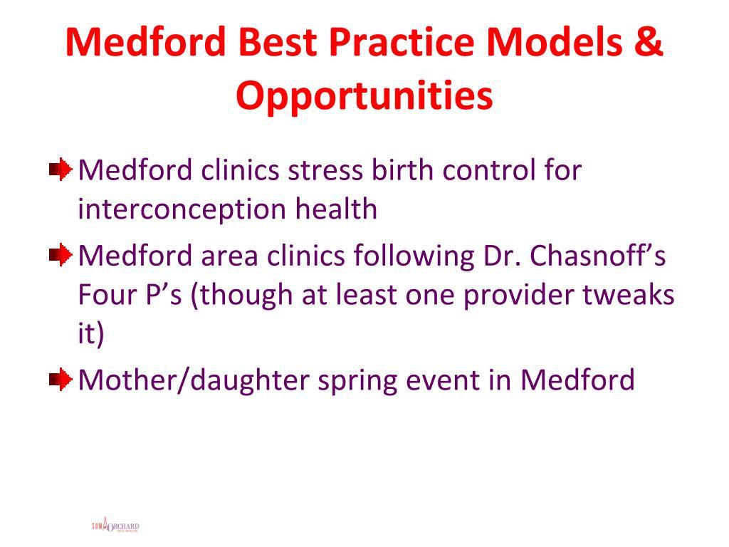 Medford Best Practice Models & Opportunities