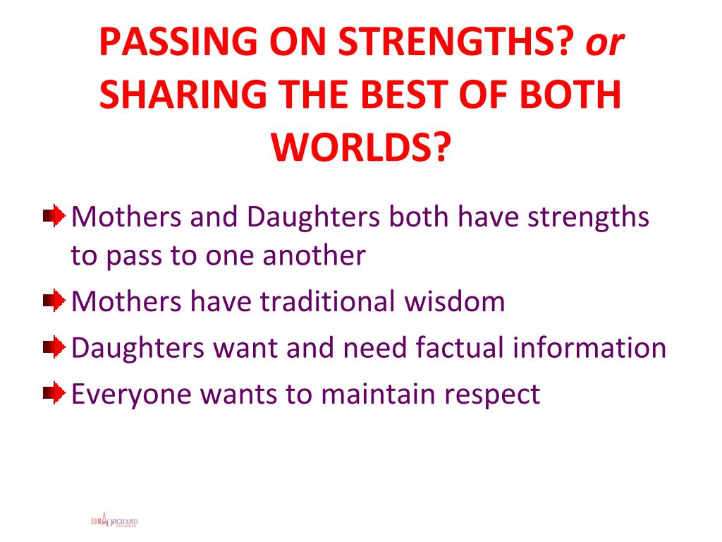 PASSING ON STRENGTHS?
