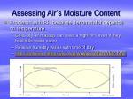 assessing air s moisture content