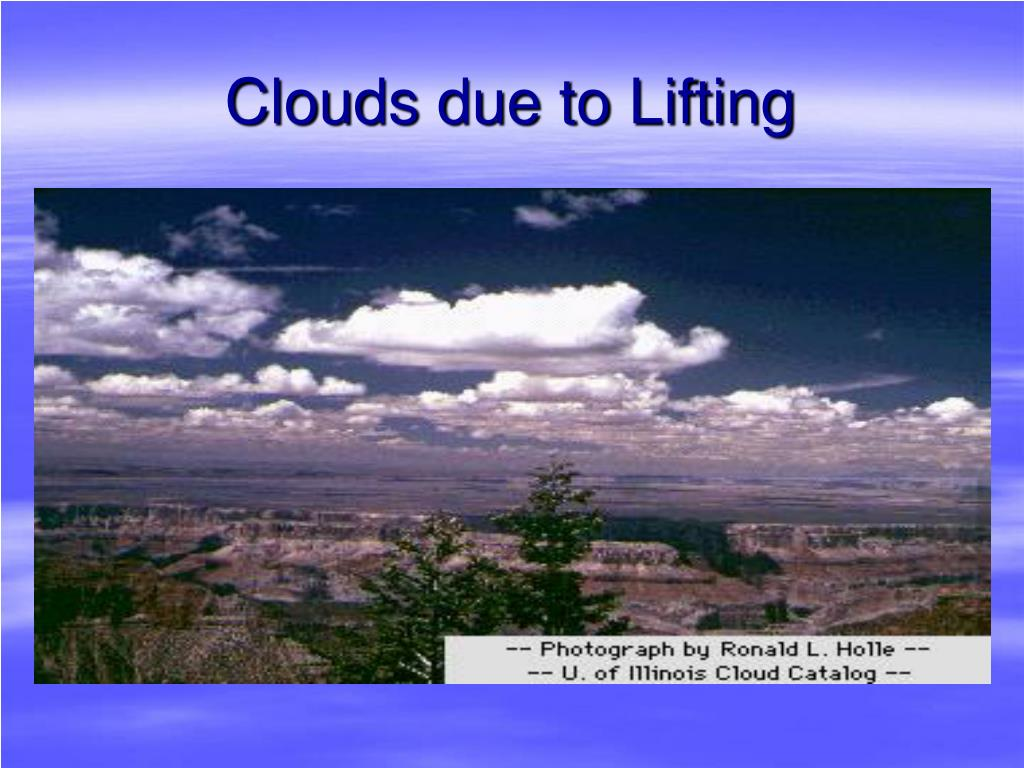 Clouds due to Lifting