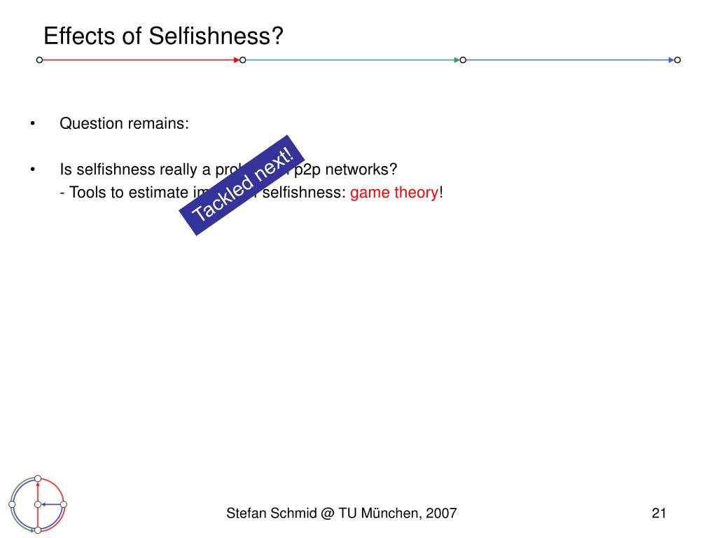 Effects of Selfishness?