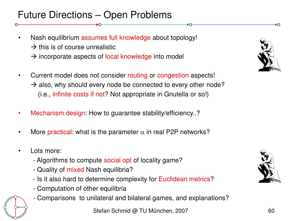 Future Directions – Open Problems
