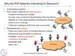 why are p2p networks interesting for research