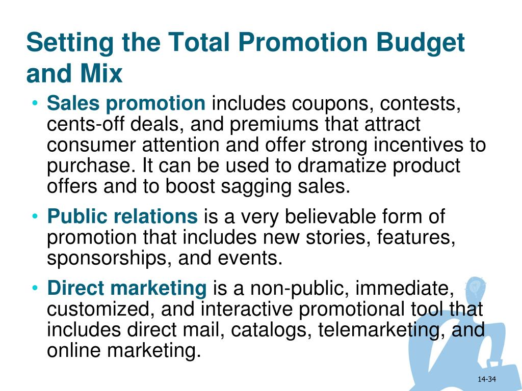 Setting the Total Promotion Budget and Mix
