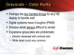 grayscale color purity