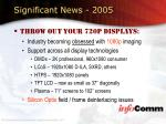 significant news 200549