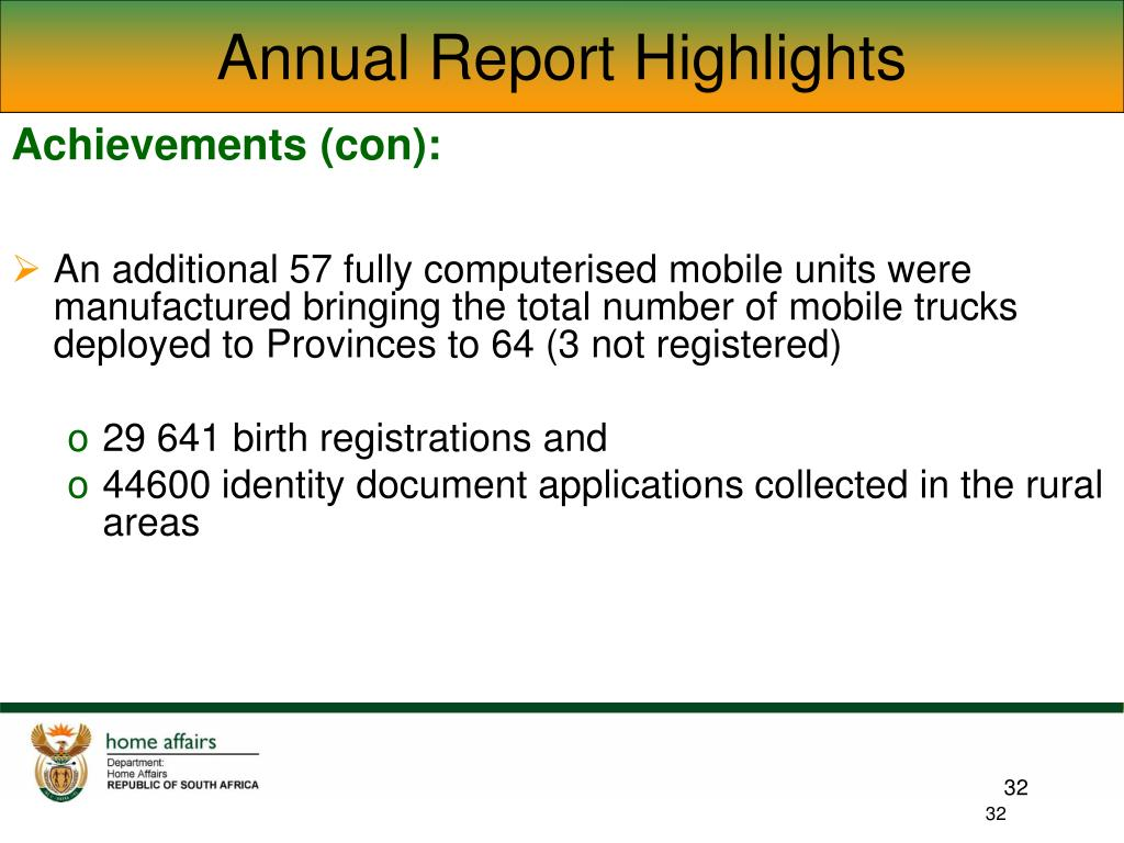 Annual Report Highlights