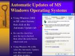 automatic updates of ms windows operating systems14